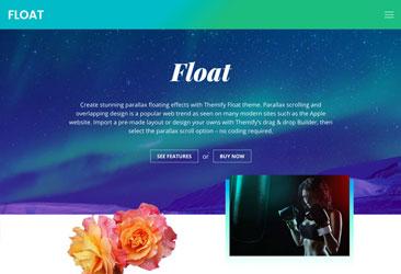 Themify Floatテーマで見事な視差フローティング効果を作成します。