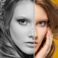 2つの画像を並べて比較できます。